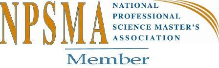 National Professional Science Masters Association Graphic